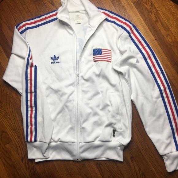 a043587f3684 adidas Jackets   Blazers - Vintage Adidas USA Track Jacket